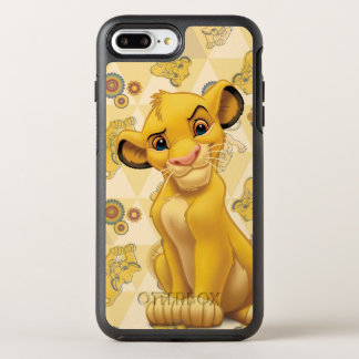 Lion King | Simba on Triangle Pattern OtterBox Symmetry iPhone 8 Plus/7 Plus Case