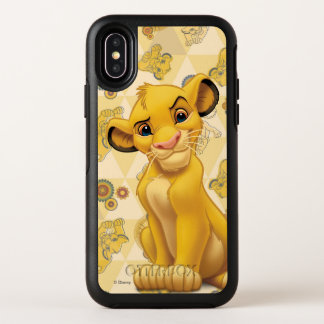 Lion King | Simba on Triangle Pattern OtterBox Symmetry iPhone X Case