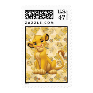 Lion King | Simba on Triangle Pattern Postage
