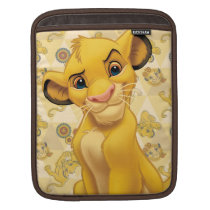 Lion King | Simba on Triangle Pattern Sleeve For iPads