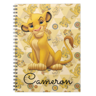 Lion King | Simba on Triangle Pattern Spiral Notebook