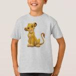 Lion King   Simba On Triangle Pattern T-shirt at Zazzle