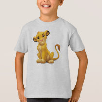 Lion King | Simba on Triangle Pattern T-Shirt