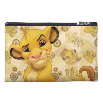 Lion King | Simba on Triangle Pattern Travel Accessory Bag