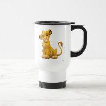 Lion King | Simba on Triangle Pattern Travel Mug