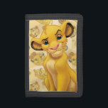 """Lion King   Simba on Triangle Pattern Trifold Wallet<br><div class=""""desc"""">Lion King: Simba</div>"""