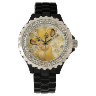 Lion King   Simba on Triangle Pattern Wrist Watch