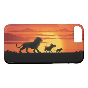Lion King   Simba, Pumbaa, & Timon Silhouette iPhone 8/7 Case