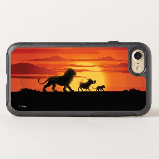 Lion King | Simba, Pumbaa, & Timon Silhouette OtterBox Symmetry iPhone 8/7 Case