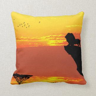 Lion King Square Cotton Throw Pillow Case 16x16