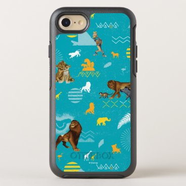 Lion King   Teal Characters & Icons Pattern OtterBox Symmetry iPhone 8/7 Case