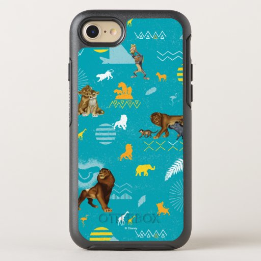 Lion King | Teal Characters & Icons Pattern OtterBox Symmetry iPhone 8/7 Case