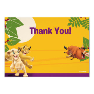 """Lion King Thank You Cards 3.5"""" X 5"""" Invitation Card"""