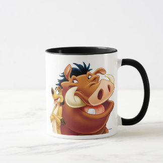 Lion King Timon and Pumba smiling Disney Mug