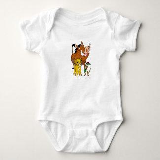 Lion King Timon Simba Pumba with ladybug Disney Baby Bodysuit