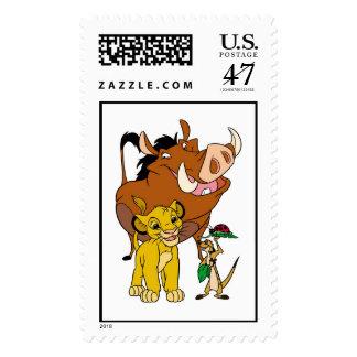Lion King Timon Simba Pumba with ladybug Disney Postage