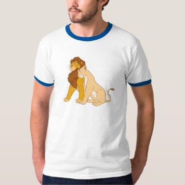 Disney Themed Lion King's Adult Simba and Nala Disney T-Shirt