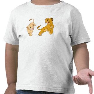 Lion King's Simba and Nala Playing Disney T-shirts