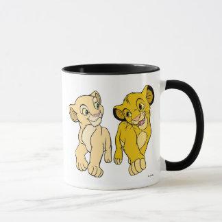 Lion King's Simba & Nala smiling Disney Mug