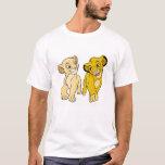 Lion King's Simba & Nala Smiling Disney T-shirt at Zazzle