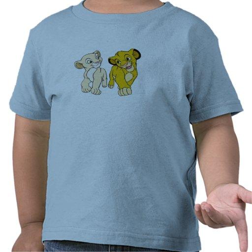 Lion King's Simba & Nala smiling Disney T-shirts