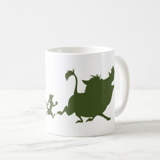 Lion King's Simba, Timon, and Pumba Silhouettes Coffee Mug