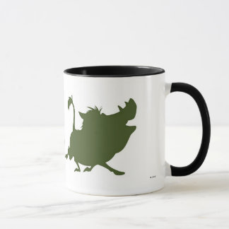 Lion King's Simba, Timon, and Pumba Silhouettes Mug