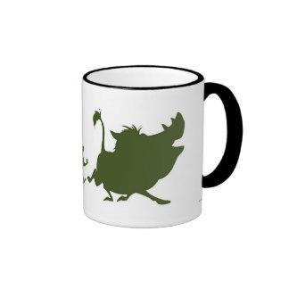 Lion King's Simba, Timon, and Pumba Silhouettes Coffee Mugs