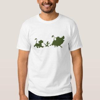 Lion King's Simba, Timon, and Pumba Silhouettes Tee Shirt