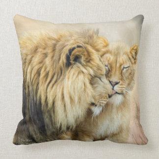 Lion Kiss Art Decorator Pillow