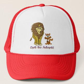 Lion & Kitty Cartoon Trucker Hat