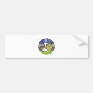 Lion Lamb and Dove Bumper Sticker