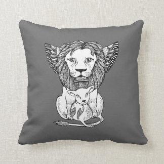 Lion & Lamb Decorative Throw Pillow