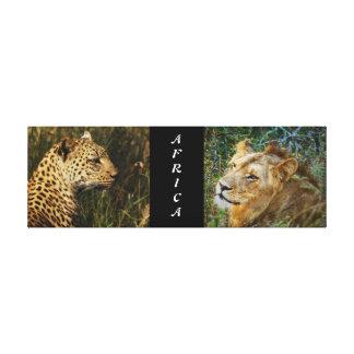 Lion leopard jungle safari animals Africa Canvas Print
