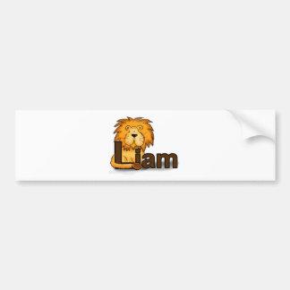Lion_Liam Bumper Sticker