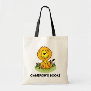 Lion library book bag bag