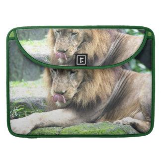 "Lion Licking 15"" MacBook Sleeve Sleeve For MacBooks"