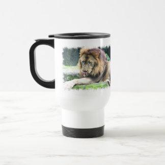 Lion Licking Plastic Travel Mug