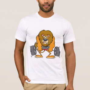 Lion Lifing Weights Mens T-Shirt