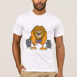 Lion Lifing Weights Mens T-Shirt