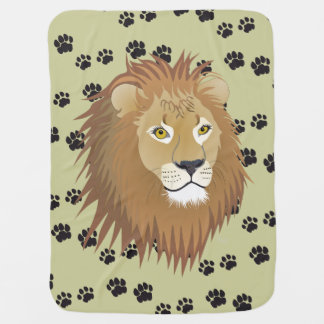 Lion lion traces of lion castings paws baby cover baby blanket