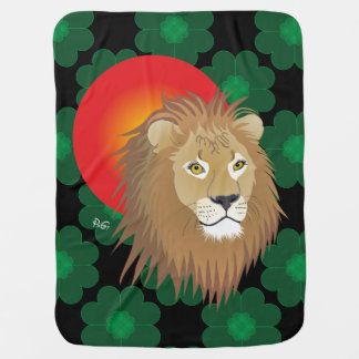 Lion lion traces of lion castings paws baby cover receiving blanket