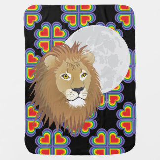 Lion lion traces of lion castings paws baby cover stroller blanket