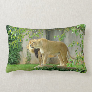 Lion Lioness Throw Pillow