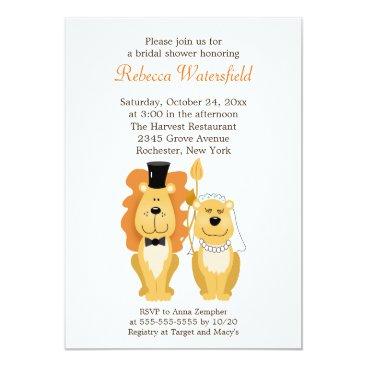 Lion & Lionness 5x7 Bridal Shower Invitation