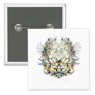 Lion ~ Lions Heads Customize Gift Template 2 Inch Square Button