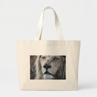 Lion listens to my heartbeat Africa Large Tote Bag