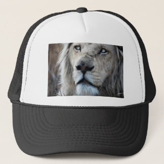 Lion listens to my heartbeat Africa Trucker Hat