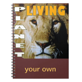 Lion Living planet Spiral Note Book