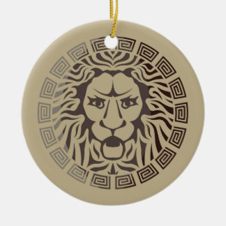 Lion Logo Vintage Style Ceramic Ornament